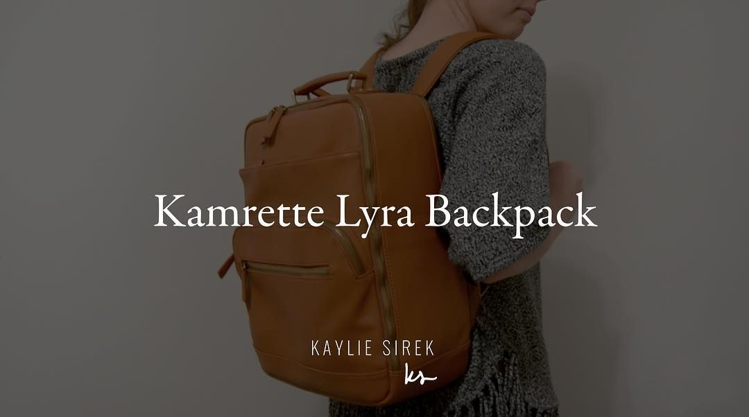 PHOTOGRAPHERS! If you're looking for a new camera bag check out the Lyra Backpack by @kamrette! I put a link in my bio to an unboxing video so you can see what it looks like and what it can hold.  #mykamrette