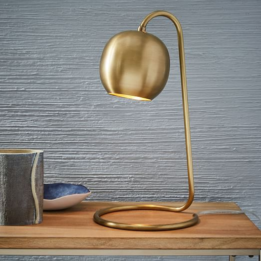 Light Rods Led Wireless Charging Table Lamp Antique Brass