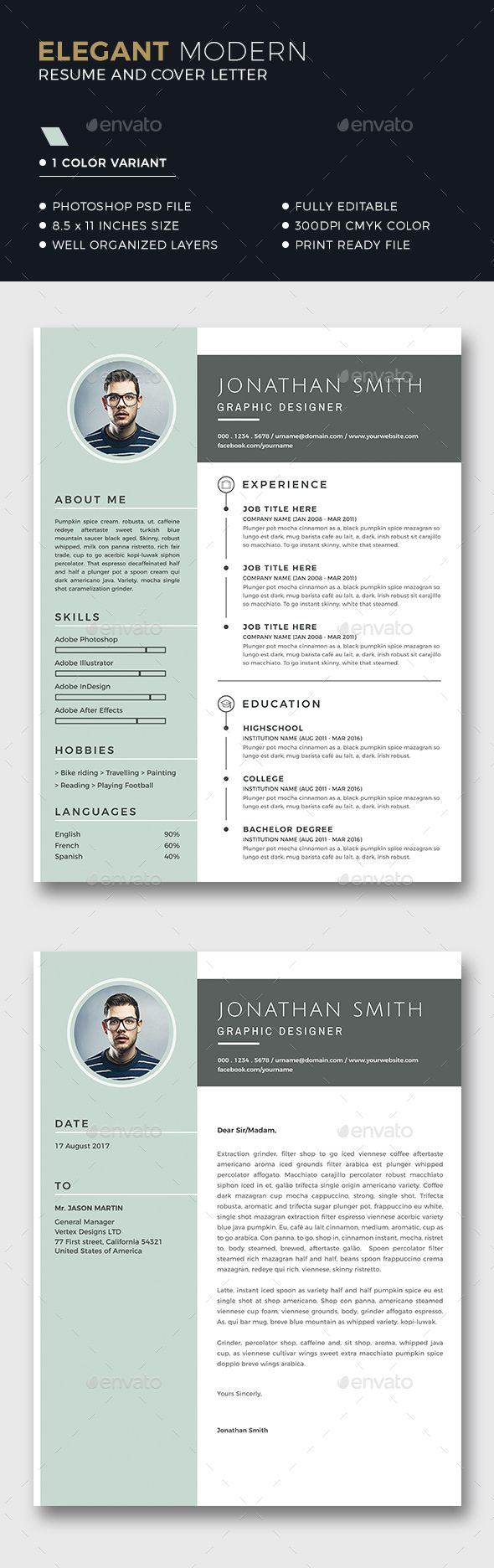 Resume Template  Template Resume Layout And Resume Cv