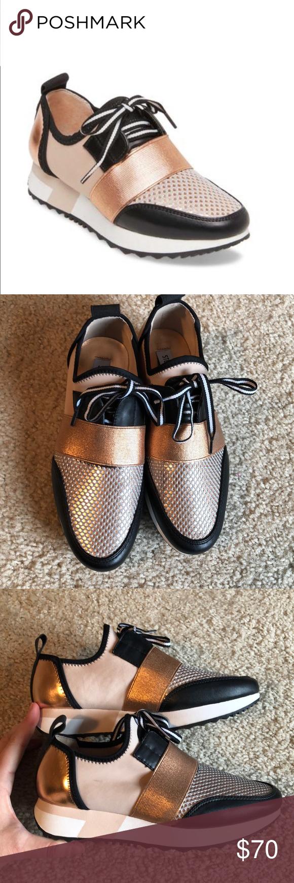 f363519e37f New! Steve Madden rose gold Antics Sneaker -6 Brand new. No box ...