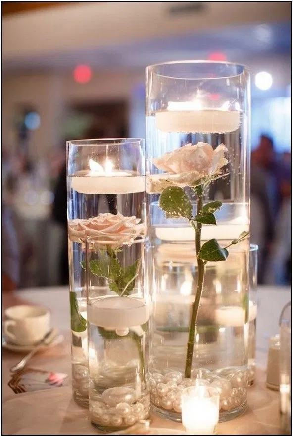 129 Budget Friendly Simple Wedding Centerpiece Ideas With Candles
