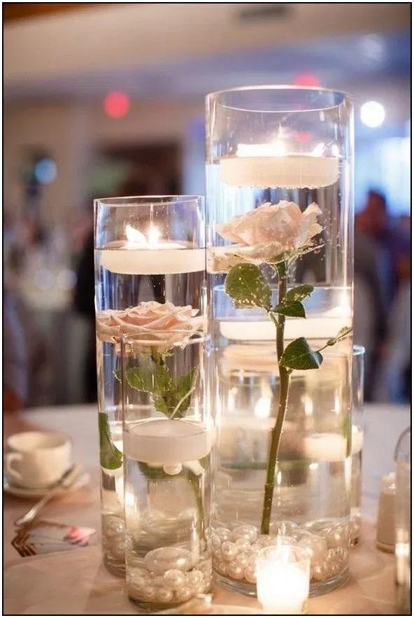 103 Greenery Wedding Centerpieces To Inspire 75 Homydepot Com In 2020 Candle Wedding Centerpieces Cheap Wedding Centerpieces Candle Table Centerpieces