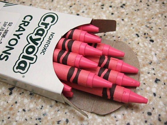 Spank me pink crayon