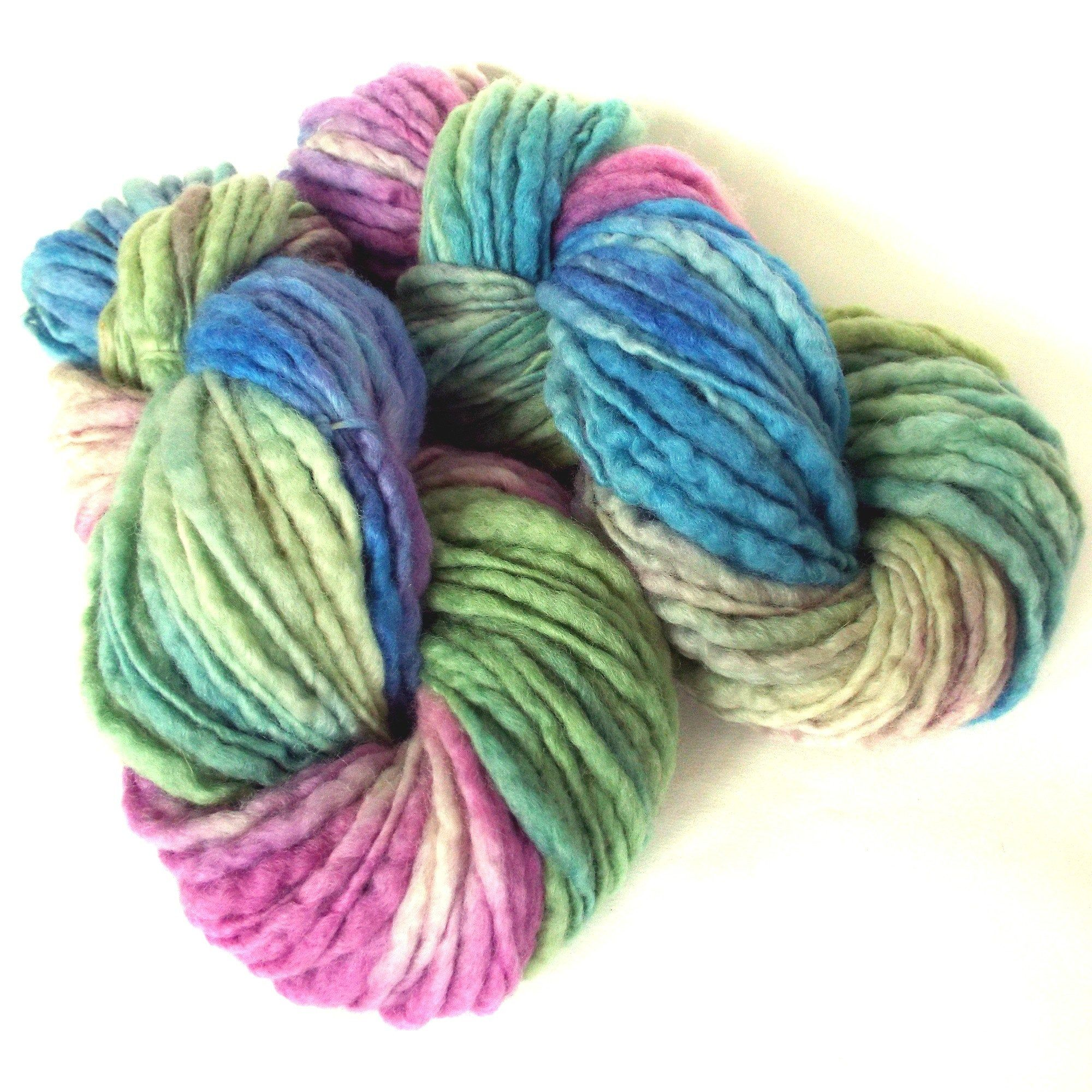 Chunky Yarn, Hand Spun Yarn, Art Yarn, Handspun Art Yarn, Thick Thin, Chunky Knit Yarn, British Wool #HandDyedYarn #HandspunYarn #HanddyedYarn #ArtYarn #HandSpunYarn #ChunkyYarn #ChunkyWool #BulkyYarn #ThickThinYarn #HandspunWool