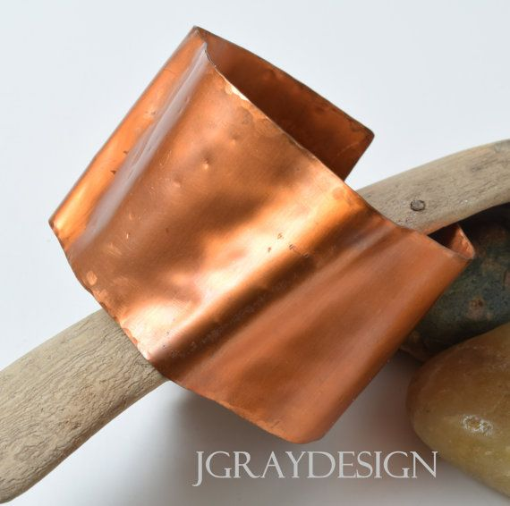 Simple Copper Cuff Foldform. Organic Earthy Living by JGrayDesign