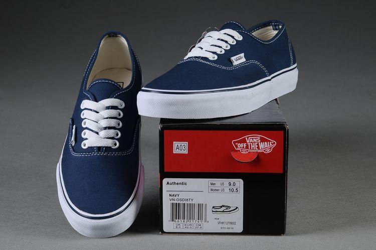 Vans Shoes Dark Blue Authentic Unisex