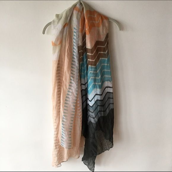 Geometric patterned oversized scarf Oversized lightweight scarf Urban Outfitters Accessories Scarves & Wraps