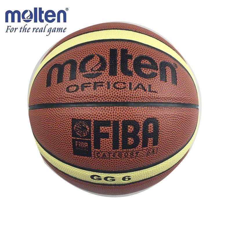 Official Basketball Ball Size 6 Molten Gg6 Pu Leather Indoor Outdoor Basketball Basketball Ball Basketball Indoor Outdoor