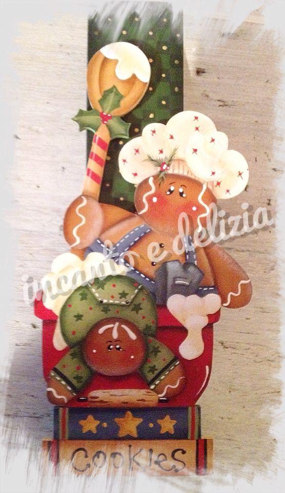Mollettone porta appunti con decorazione natalizia di Renee' Mullins