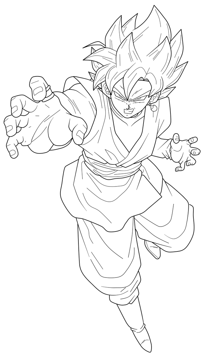 Goku Black Super Saiyan Rose 3 Lineart By Chronofz On Deviantart Dragon Ball Art Dragon Ball Artwork Dragon Ball Super Art