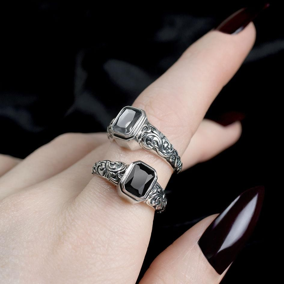 Ashes Sterling Silver Round or Oval Ring x