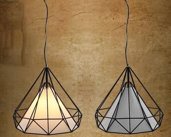(FILM) Zwis Żyrandol lampa vintage diament Metal