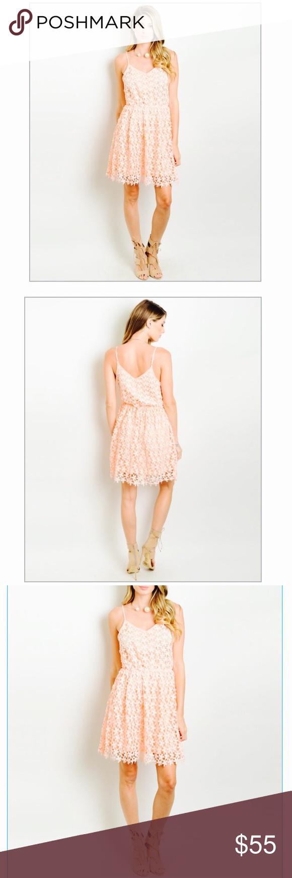💕CLOSEOUT SALE💕 Imogen Blush Crochet Dress Boutique