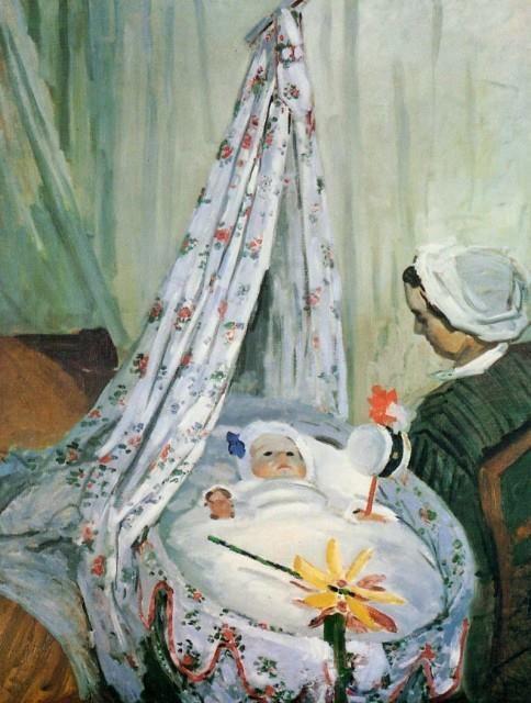 Jean Monet in His Cradle Claude Monet