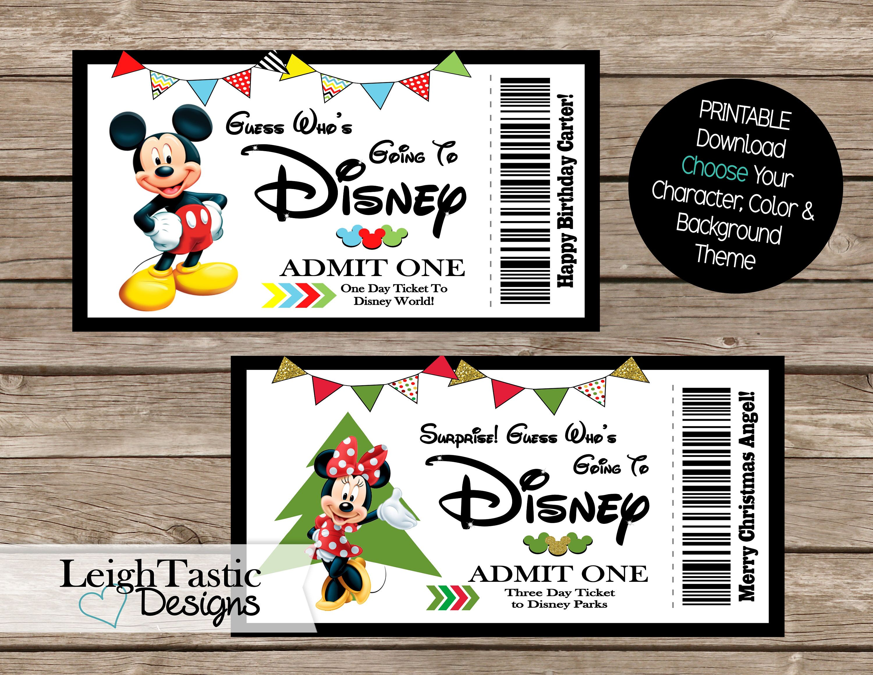 photograph relating to Printable Disney Tickets identified as Just one PRINT Oneself Ticket, Ponder Ticket, Holiday vacation, Disney