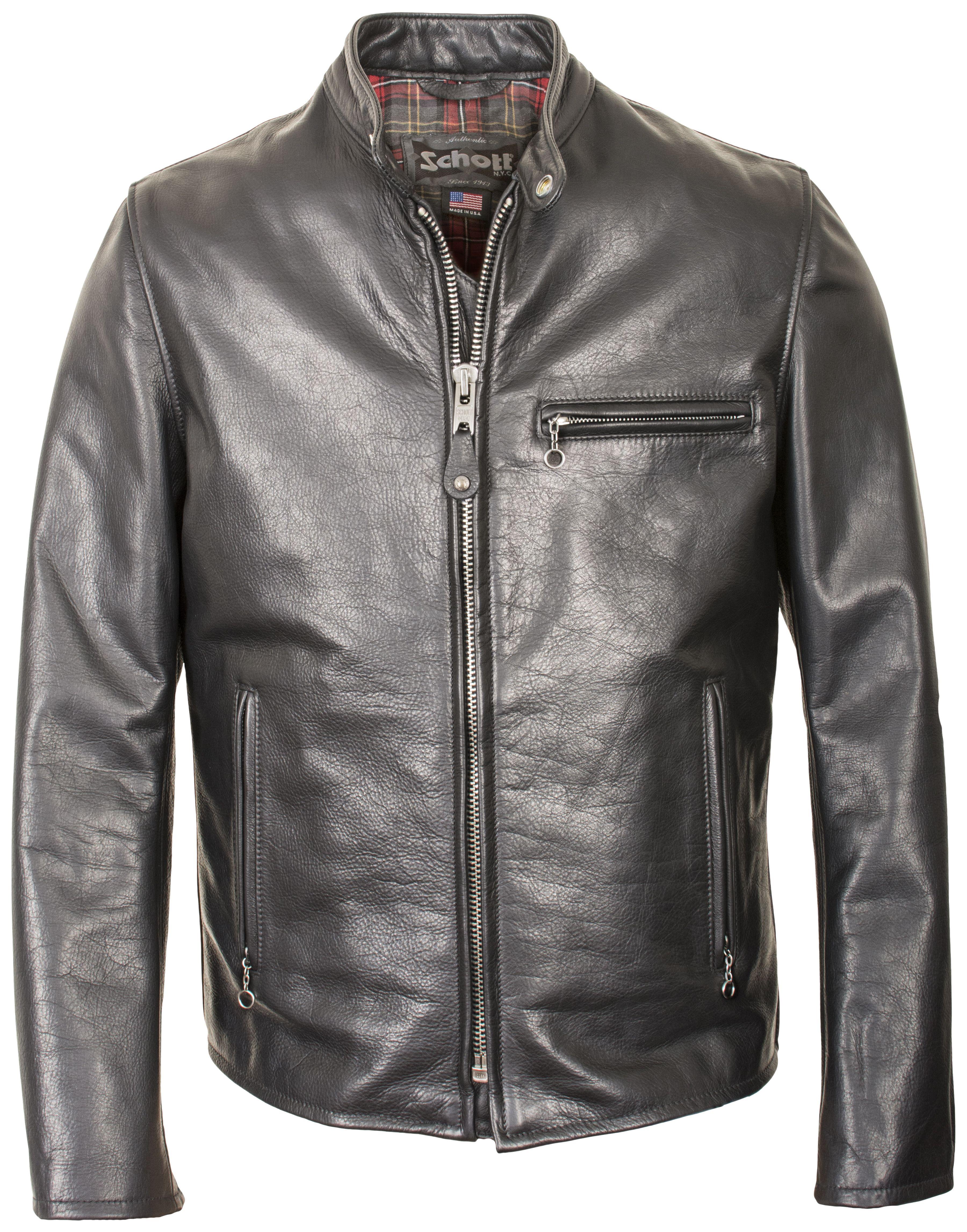 Schott 530 Cafe Racer Jacket Revzilla Cafe Racer Jacket Leather Jacket Men Leather Jacket