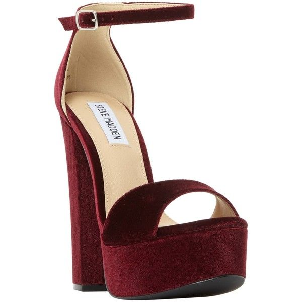 d22bc9d30a8 Steve Madden Gonzo Platform Block Heeled Sandals ( 120) ❤ liked on Polyvore  featuring shoes