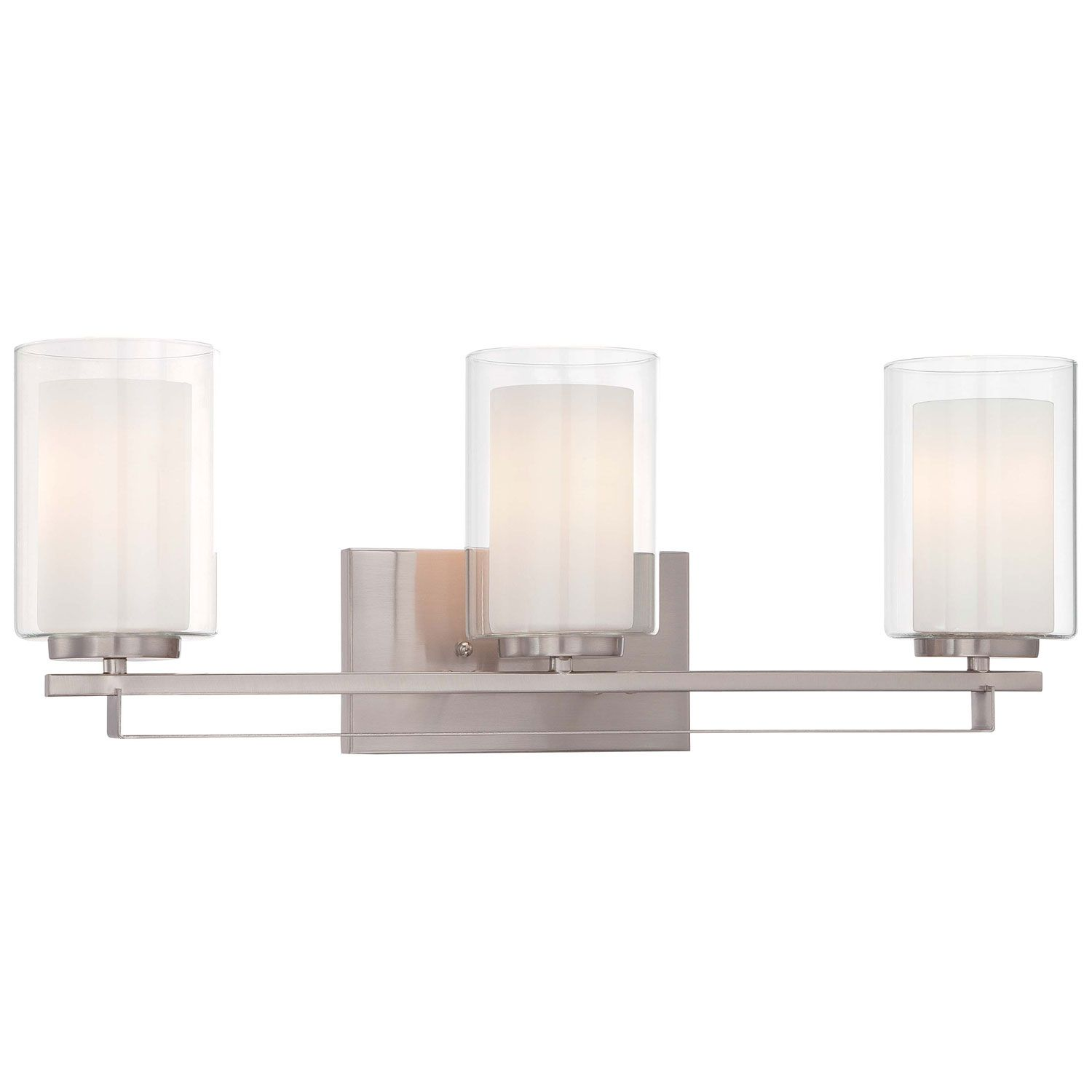 MinkaLavery Parsons Studio Brushed Nickel Inch ThreeLight - Brushed nickel bathroom light fixtures sale