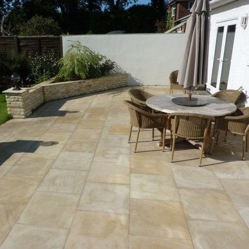toneFlair by Bradstone, Smooth Natural Sandstone Paving Dune Patio ...