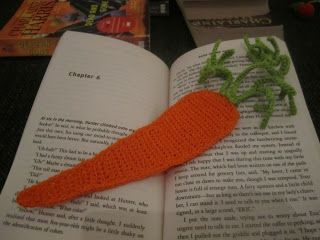 Crochet Carrot Bookmark
