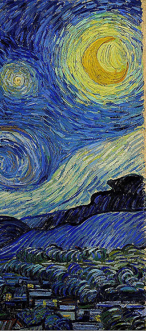 Starry Night Circa 1889 Vincent Van Gogh Pinturas Obras De Arte Pinturas Arte Impresionista