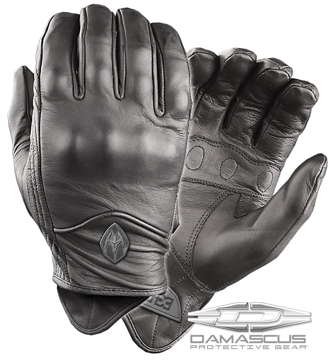Extra small black leather gloves - Atx 95 All Leather Gloves With Knuckle Armoryour Finest Firearm Or The Sleekest