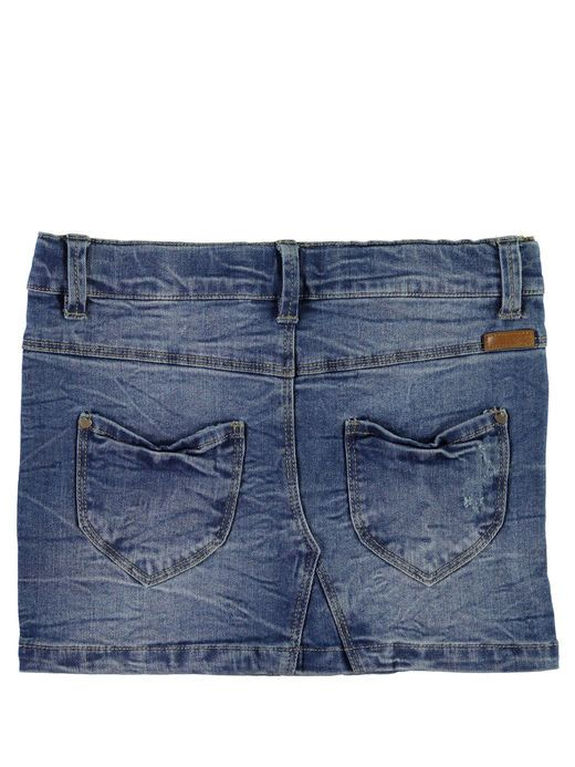 KIDS NITSIRI DENIMSKJØRT, Medium Blue Denim
