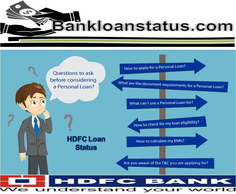 Hdfc Loan Status Personal Loans School Loans Loan Company