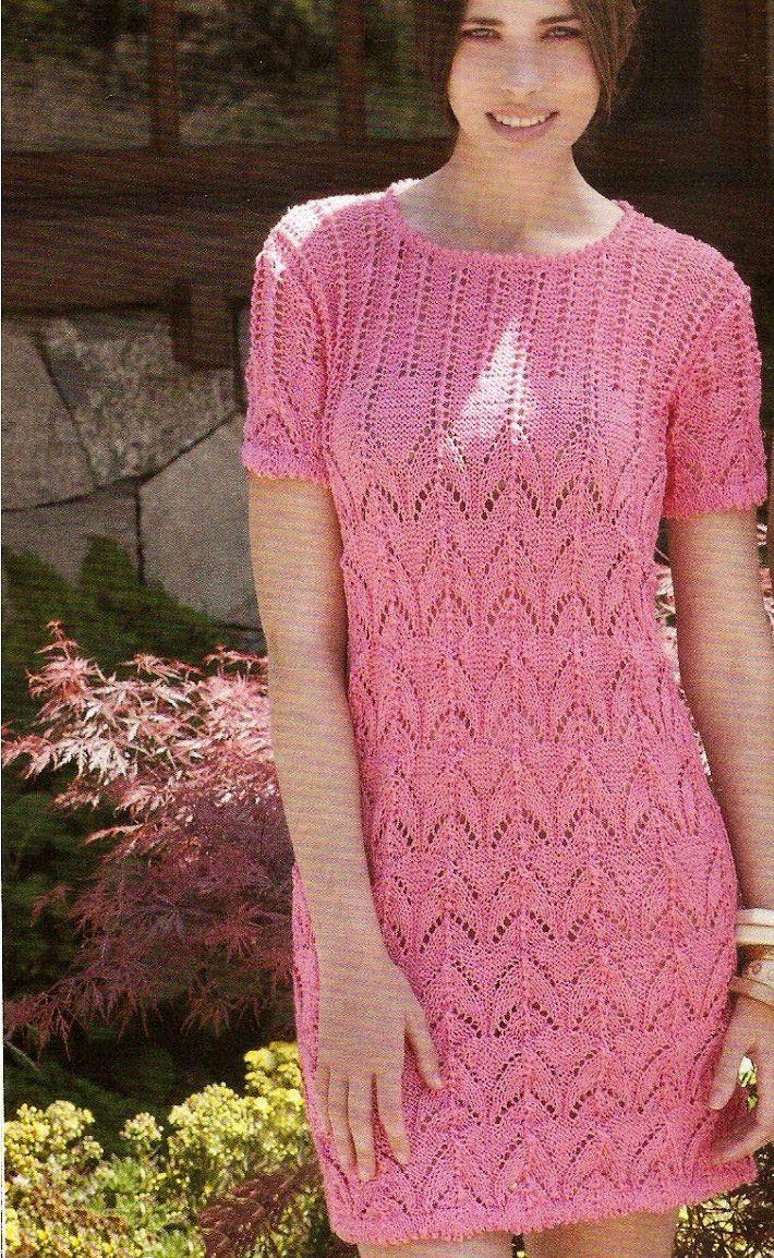 Vestido | Vestido palillo | Pinterest | Vestiditos, Tejer punto y Tejido