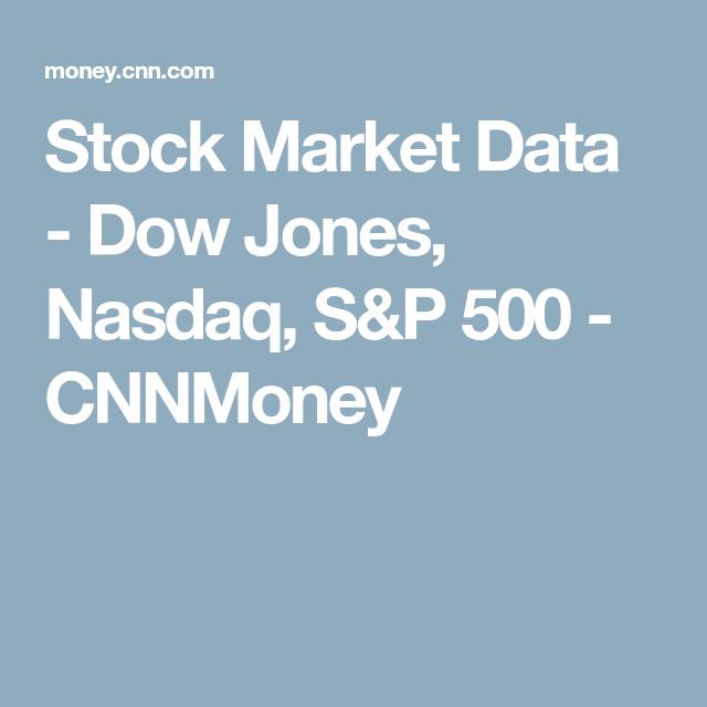 Stock Market Data Dow Jones Nasdaq S P 500 Cnnmoney Stock