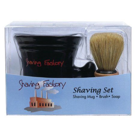 Shaving Factory Shaving Set, White, Multicolor