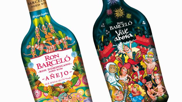 En lo más fffres.co: Ron Barceló viste su botella de Carnaval con un colorido diseño de Víctor Jaubert: Con febrero llega una… #Packaging