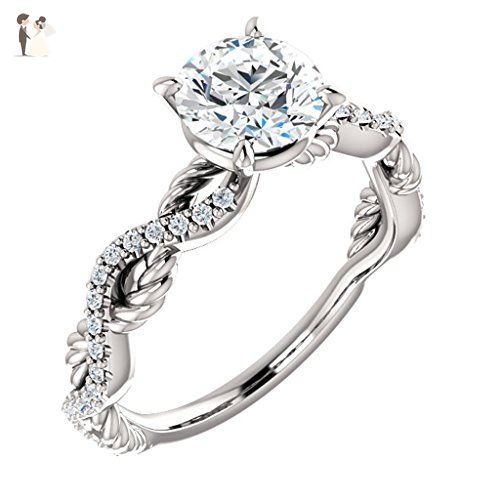 Infinity Rope Design Diamond Engagement Ring Wedding And Engagement Rings Amazon Partner Link Wedding Rings Engagement Diamond Engagement Engagement Rings