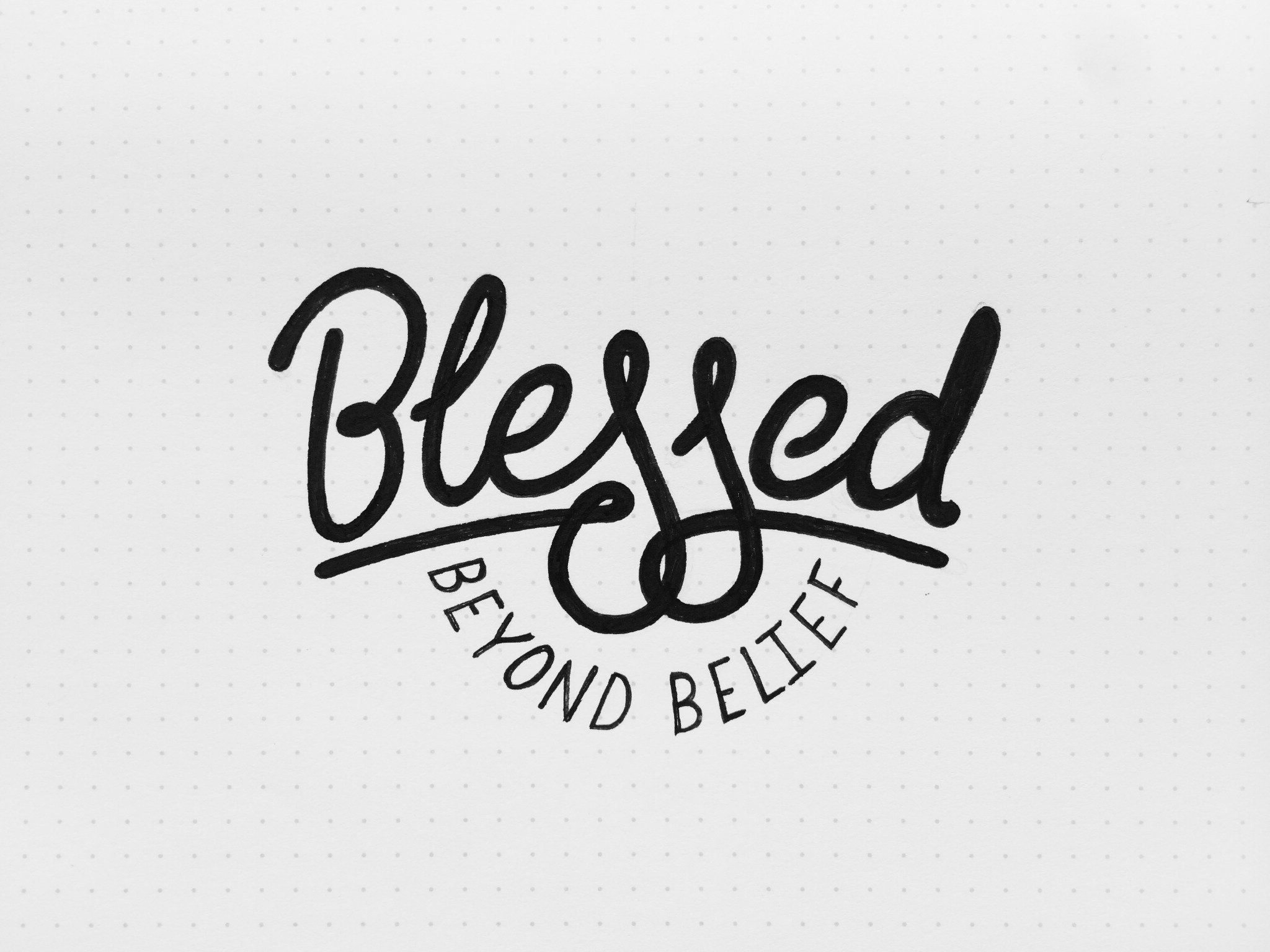 3 Typetuesdays Blessed Beyond Belief By Bob Ewing Tattoo