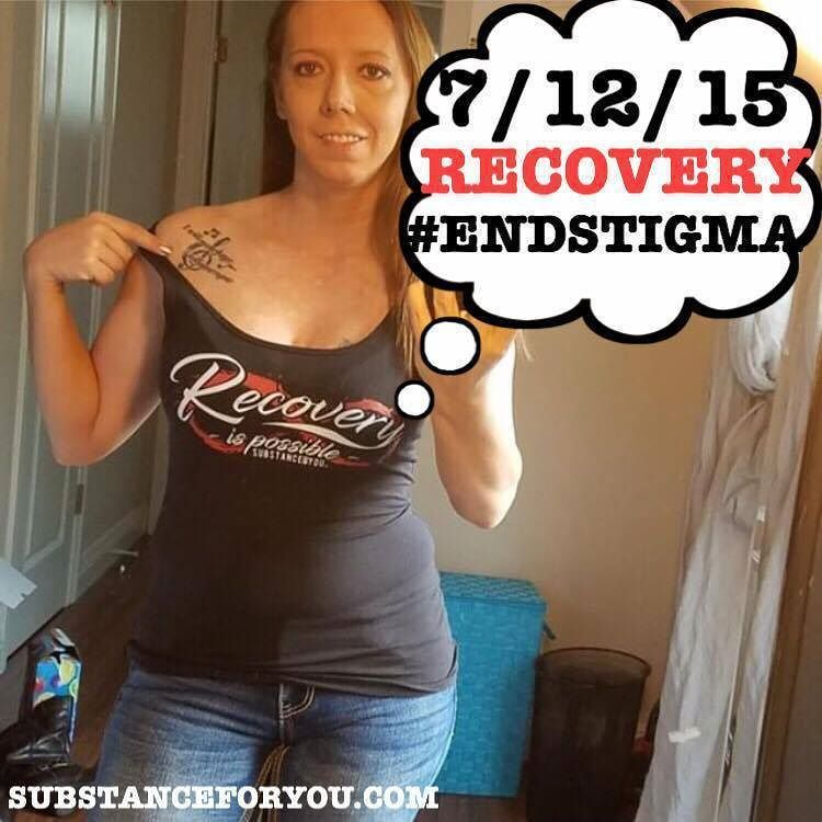 """Christina @Soberchic and I got to talking about RECOVERY TATTOOS because I posted a photo of me with CLEAN LIFE on my arm recently on @Brianmccollom (IG Personal) and pretty soon I got a photo of her in our Recovery Is Possible women's tank showing off her ridiculously awesome recovery tattoo saying """"I WILL NEVER FORGET I WILL NEVER REGRET."""" And I Think that is one of the bravest things to do as a badge of honor for ourselves such a permanent reminder of how strong we are!!!!! I'm so so so…"""