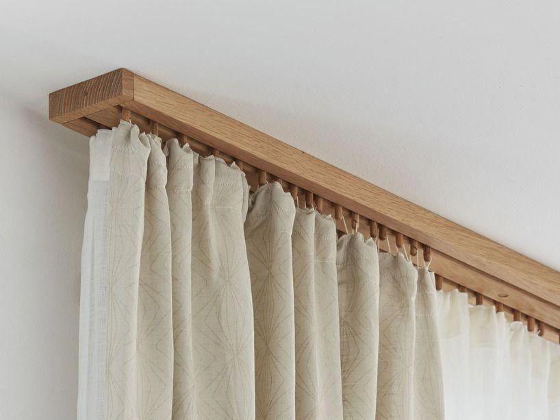 wooden curtain rods diy headboard