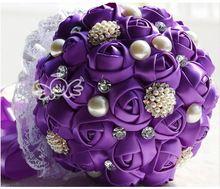 Más caliente artificiales boda ramos de boda para las novias de la boda decoración de flores de seda ramo de novia de rosas(China (Mainland))