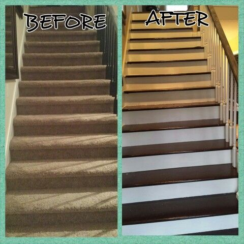 Best Take The Carpet Off Your Stairs And Finish The Treads And 400 x 300