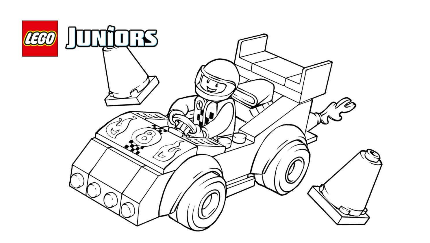 Lego Race Car Rally 1 Coloring Sheet
