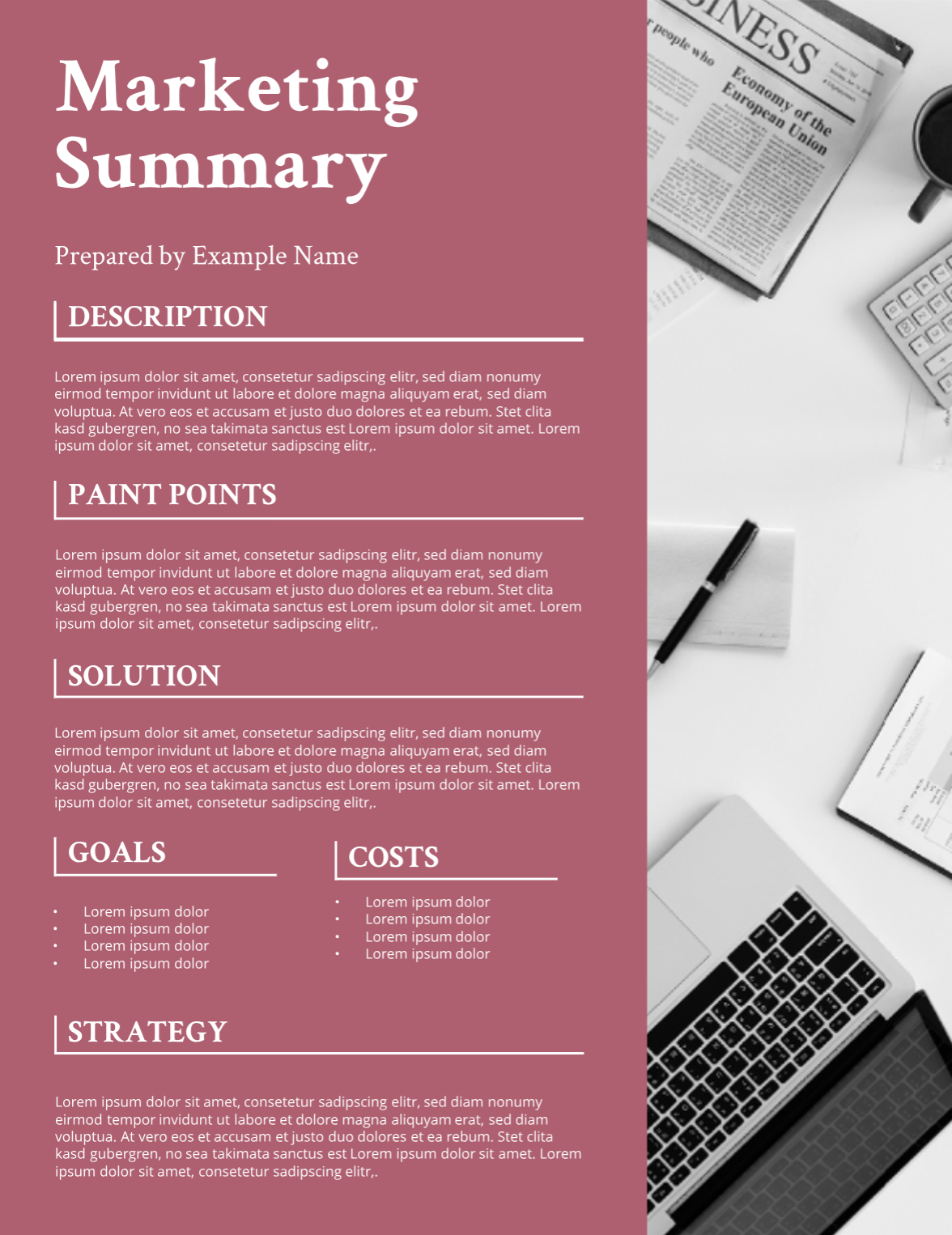 Simple Project Proposal With Images Project Proposal Template