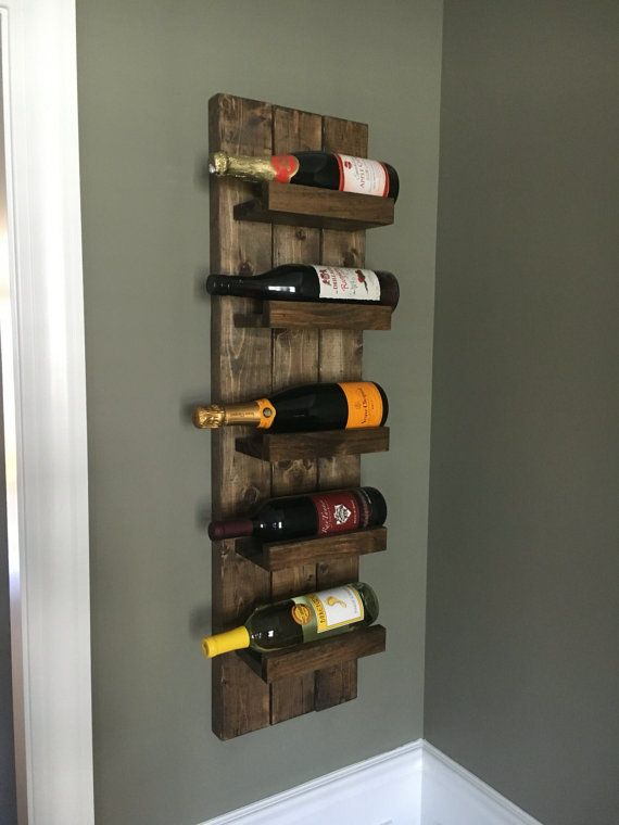 Handcrafted And High Quality Wall Mounted Wooden Wine Rack And Wine