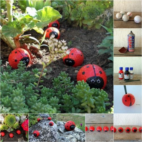 Cutest Garden Decor Turn Old Golf Into Ladybugs They Become So Adorable