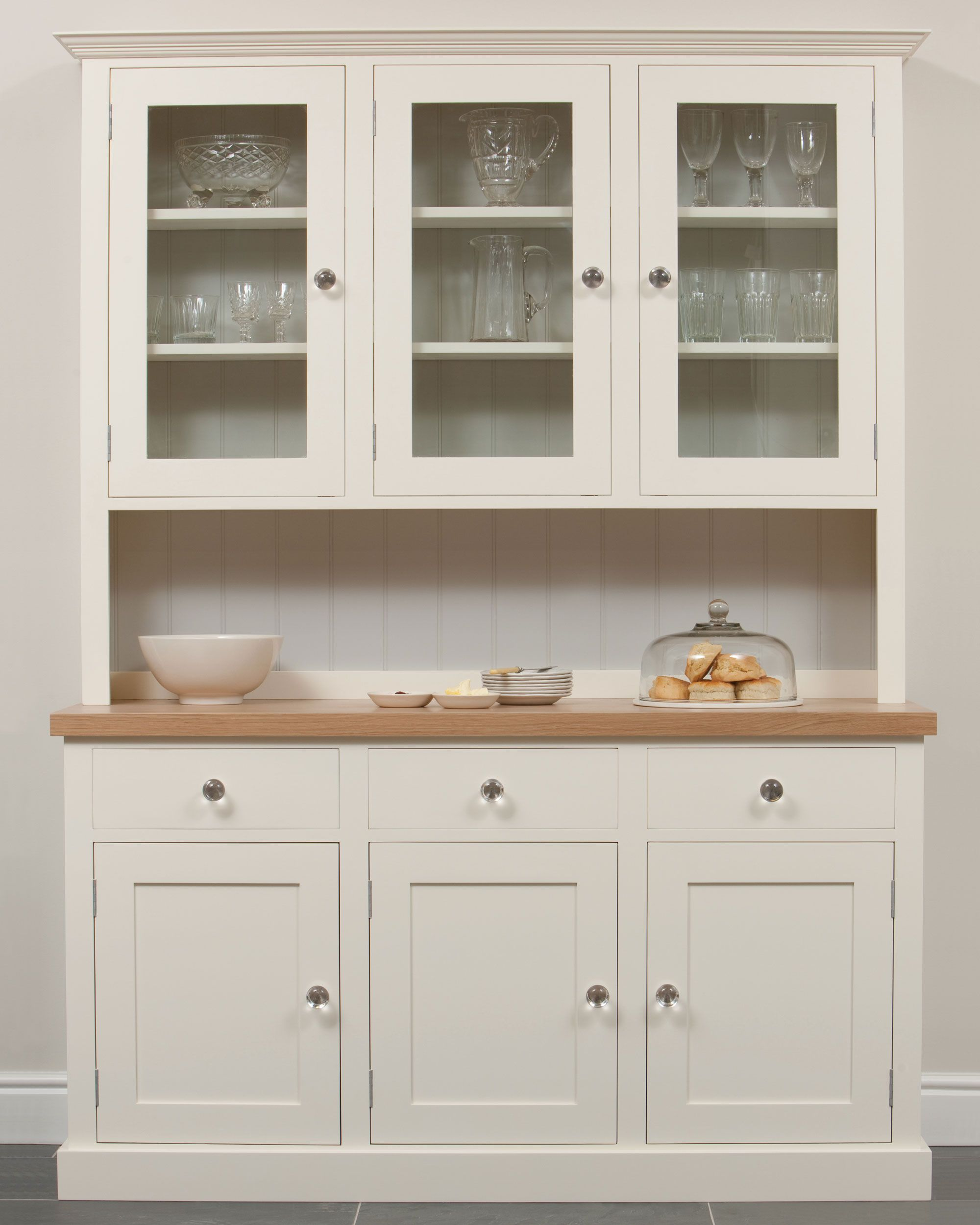 Painted kitchen dressers and fine free standing furniture for Traditional kitchen dresser
