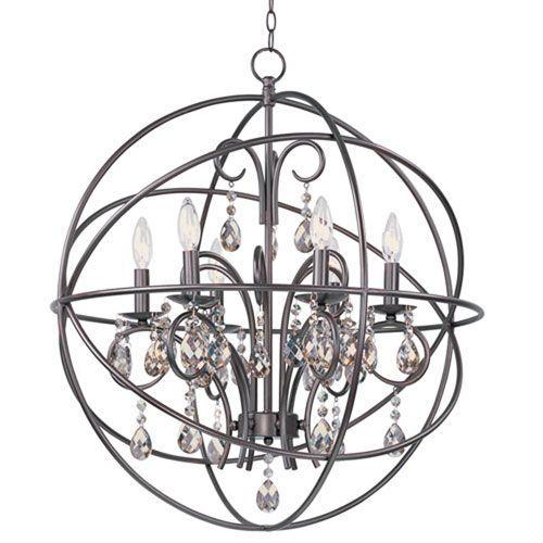 Hoover Industrial Pendant Light: Maxim Lighting International Orbit Oil Rubbed Bronze Six