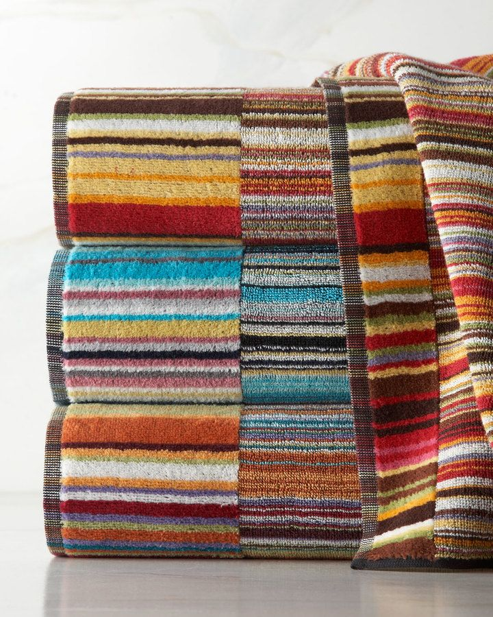 Missoni Home Jazz Bath Towel With Images Striped Towels Bath