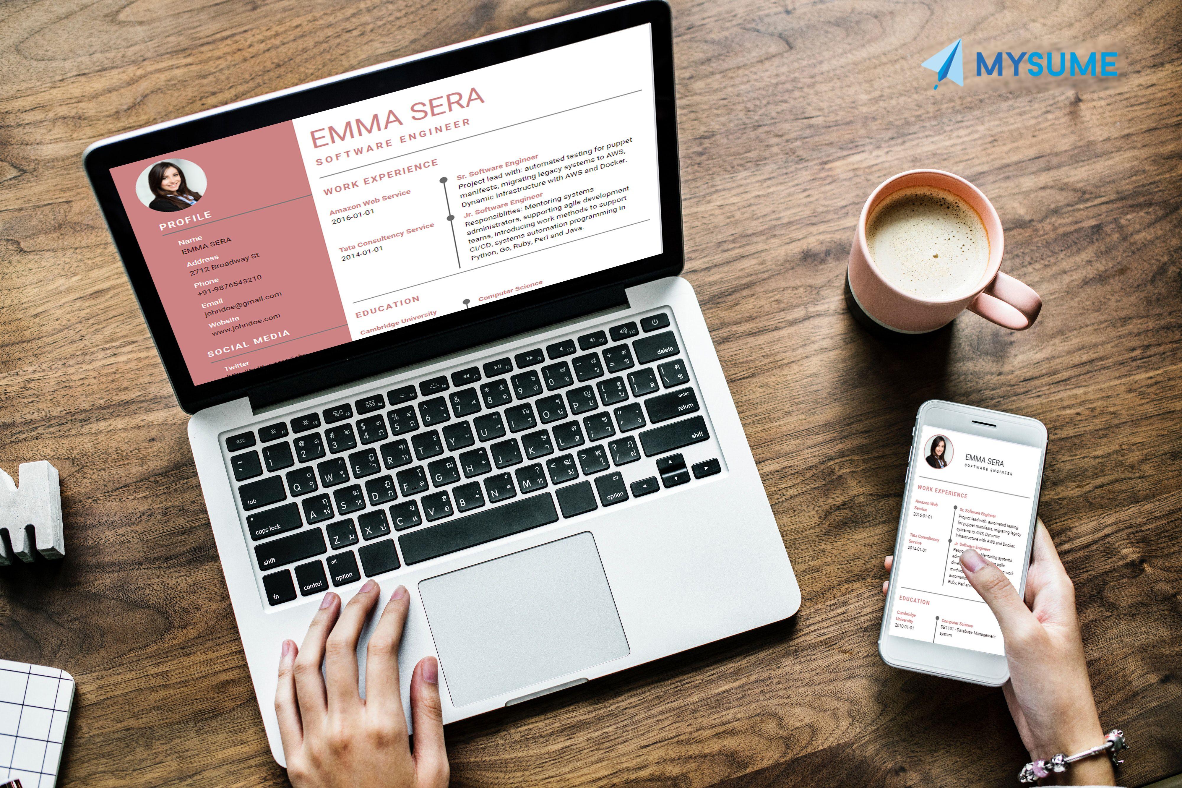 online resume builder Online resume, Online resume