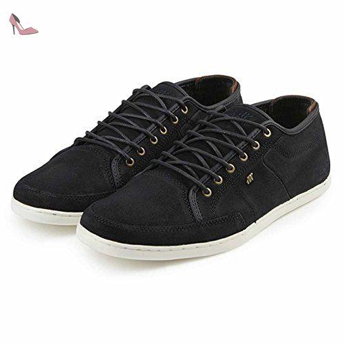 Boxfresh Keel Cat CP Lea Chaussures en cuir Homme Taille EUR 40–EUR 46en cuir Baskets - Noir - noir BrMDWq,