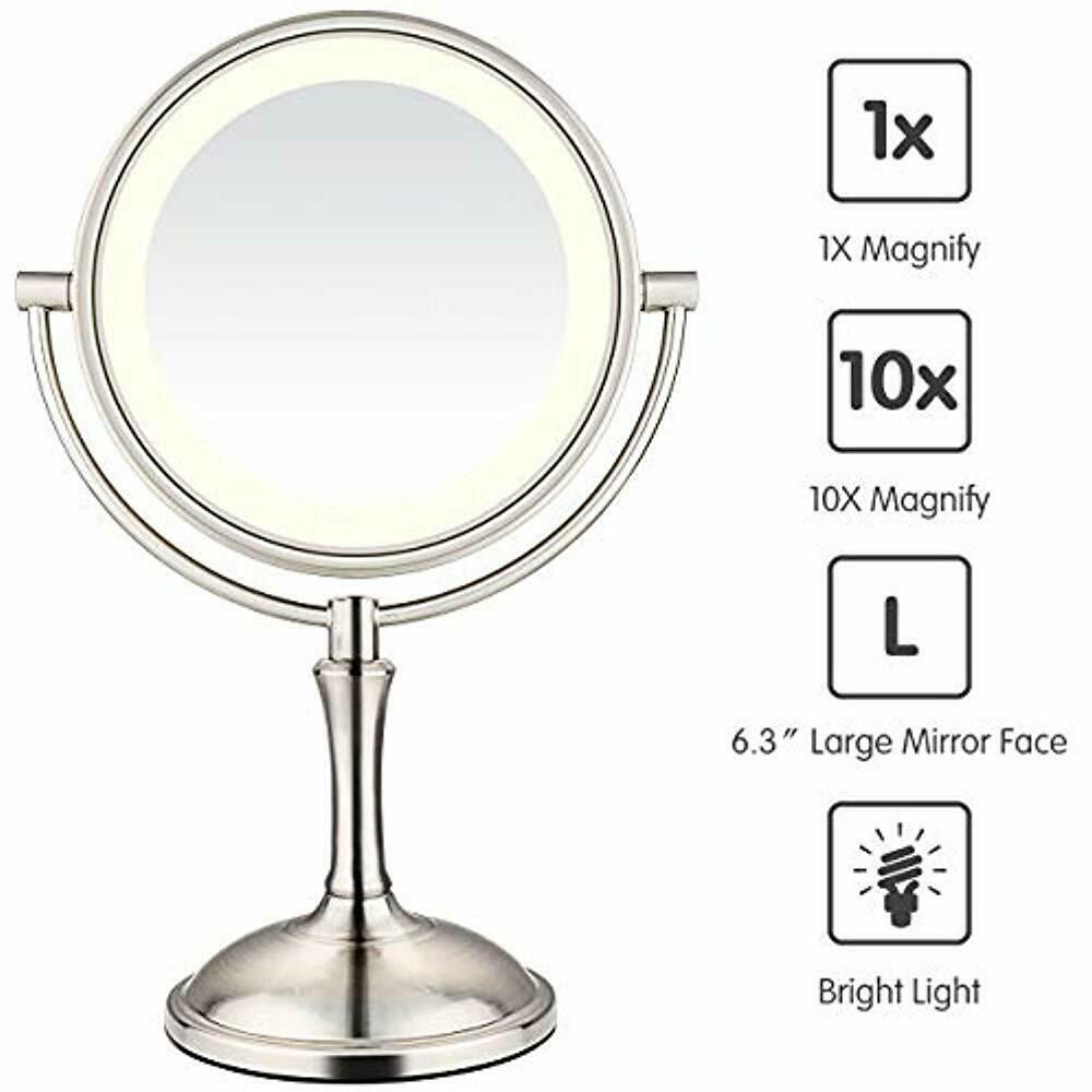 Makeup Mirrors Led Mirror 10x Magnifying 7 8 Double Sided Lighted Vanity Fashion Home Garden Homedcor Floraldcor E Led Makeup Mirror Led Mirror Mirror