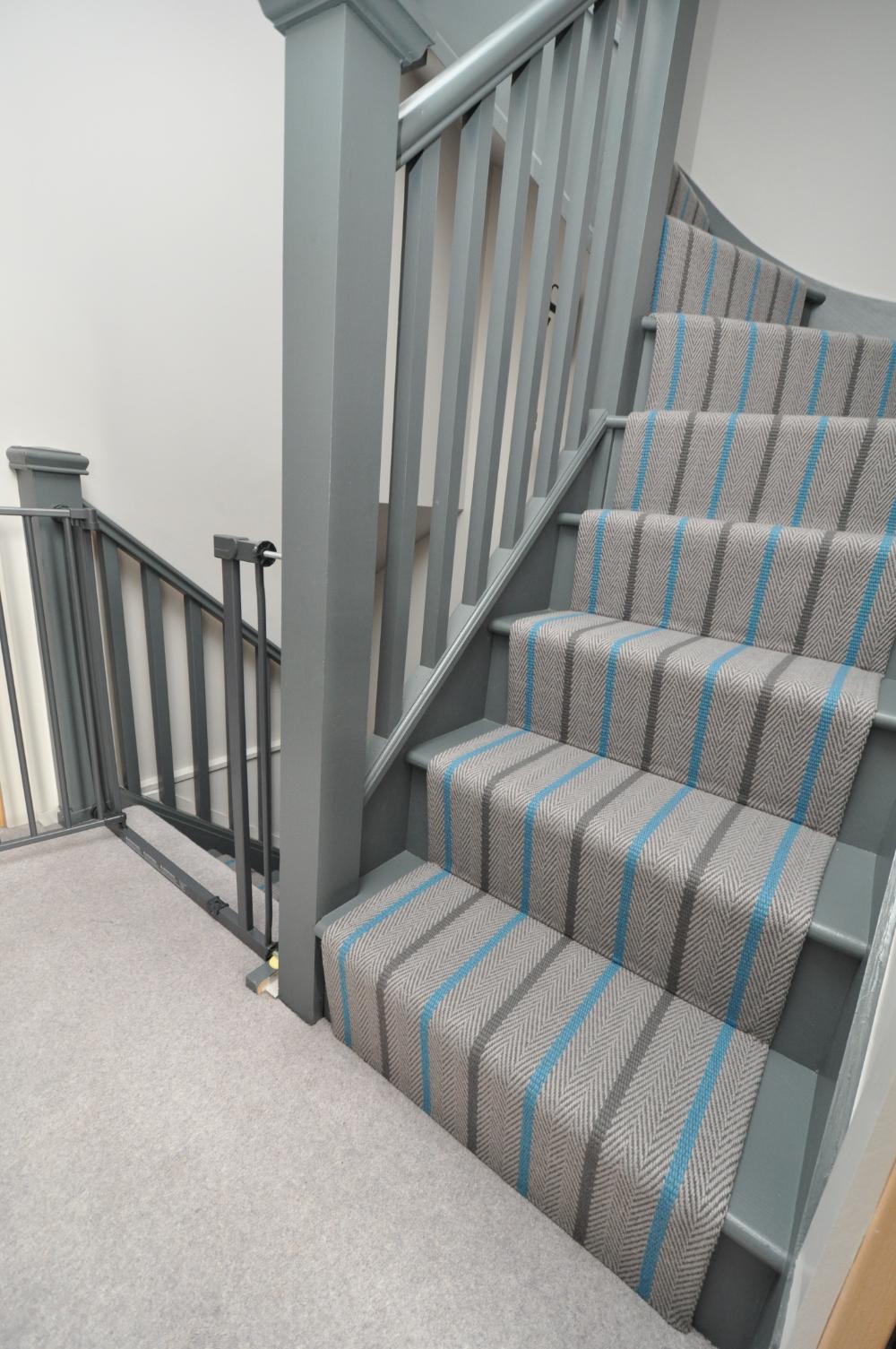 Pin On Tiny House Stairs   Off The Loom Stair Runners   Modern Staircase   Runner Brampton   Offtheloom   Loom Elsdon   Queenstown Road