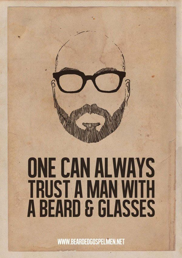 64b6edfb Minimalist Posters Of Hilarious Quotes About Why Beards Are Great -  DesignTAXI.com